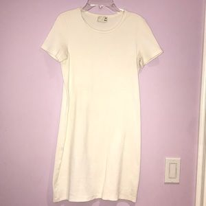 CUTE SHORT WHITE COTTON DRESS